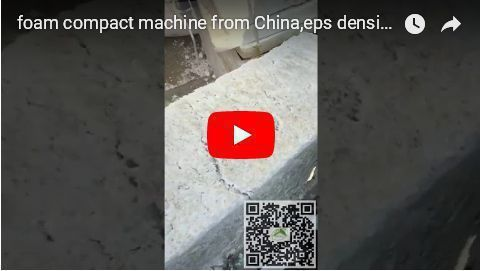 Youtube video of eps foam waste densifying machine