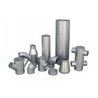 gavalnized spiral pipes and fittings